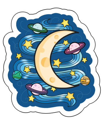 """Sticker """"Sweet Space Dreams"""""""