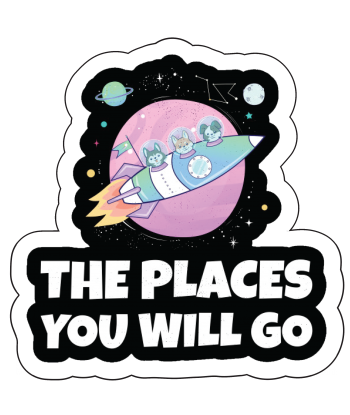 """Sticker """"The Places You..."""