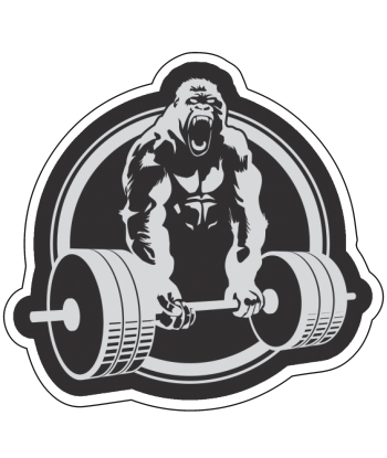 "Sticker ""Gorila Lifting"""