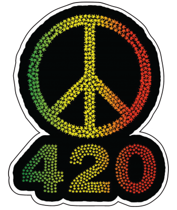 "Sticker ""420 Peace"""