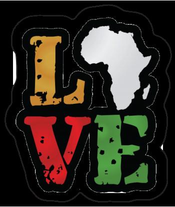 """Sticker """"Love Africa"""""""