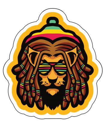 """Sticker """"Rasta Lion"""""""