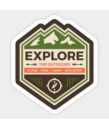 """Sticker """"Explore the outdoors"""""""