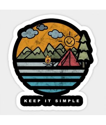 "Sticker ""Keep it simple"""