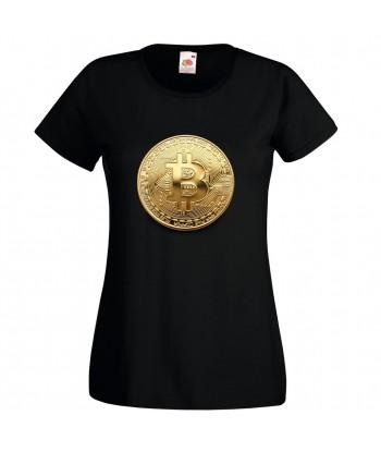 """Tricou pentru femei, """"Bitcoin"""""""